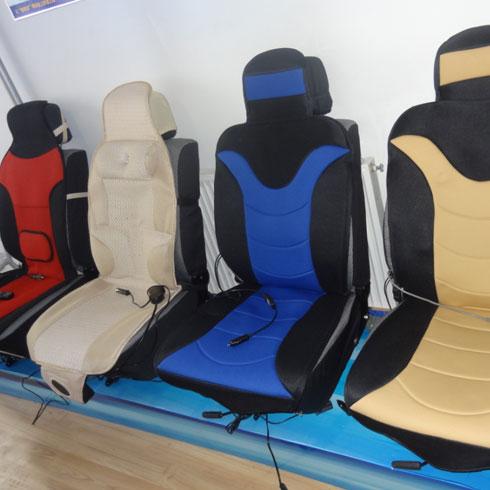 坐垫.这款舒尼尔汽车温控按摩坐垫和平常的坐垫安装方式是一高清图片