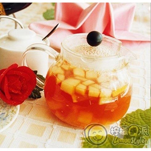 柠檬Q派苹果荔枝果茶