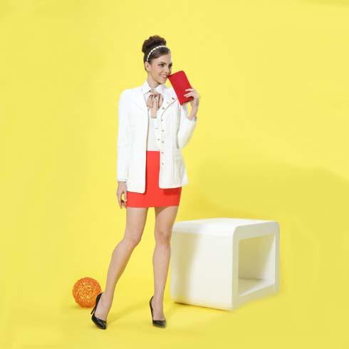 艾丽哲女装韩版小清新职业包臀短裙套装