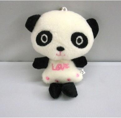 超可爱毛绒小熊猫手机挂饰,包包挂饰