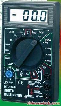 数字万用表dt830b_安培德电子设备-3158招商加盟网