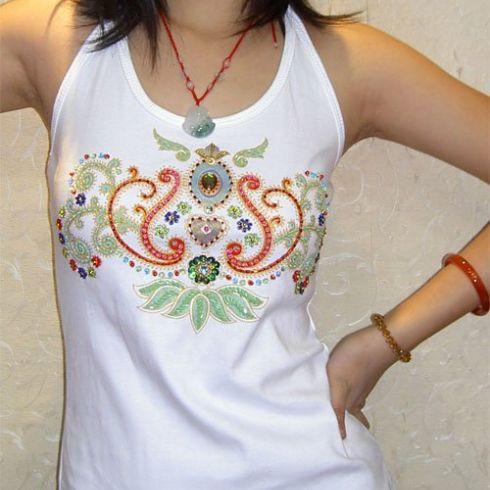 波西米亚服装钉珠加工