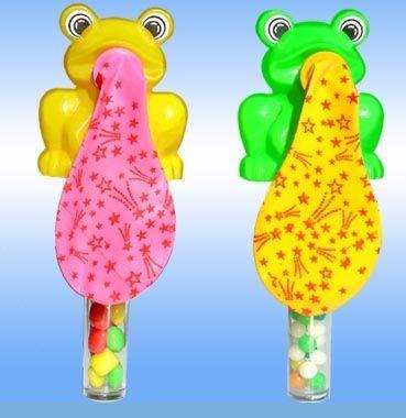 青蛙吹球糖果玩具-德兴食品
