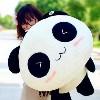 微笑大熊猫公仔抱枕毛绒玩具