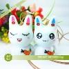 降/景德镇陶瓷工艺品 胡萝卜兔子风铃 最新爆款 厂家直销50件起批