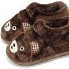 卡通熊脸棉鞋 保暖不防水家居棉鞋