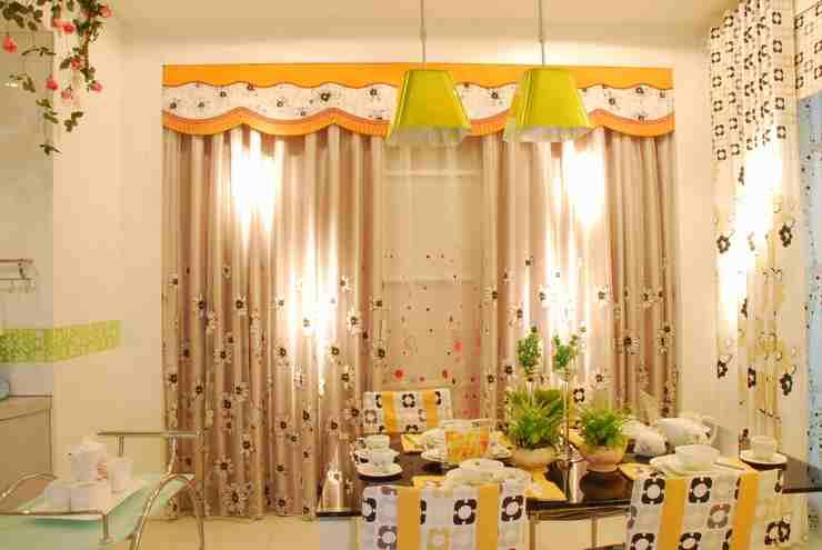 橄榄树餐厅窗帘