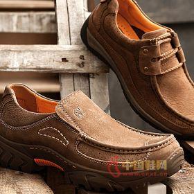 骆驼/骆驼棕色宽头休闲皮鞋2014春款