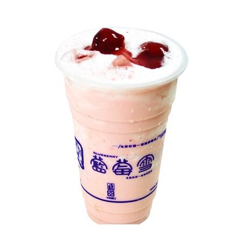 蓝莓雪派之奶盖奶茶
