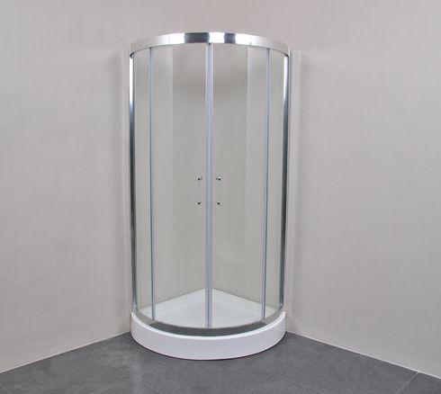 云涛简易扇形淋浴房其产品采用玻璃隔断和铝合金边框