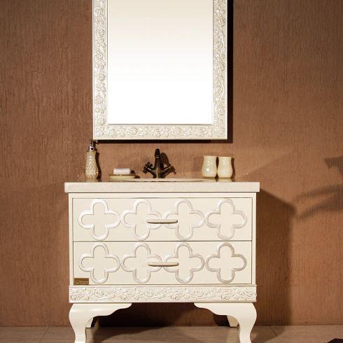 欧式浴室柜带梳妆台图片