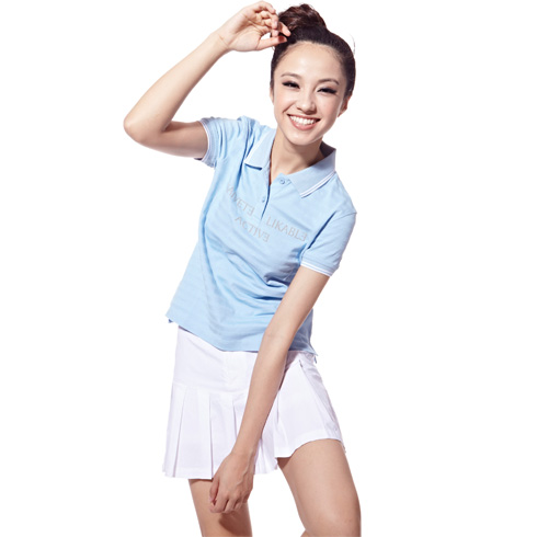 捷路运动服装-纯白色百褶运动短裙搭配