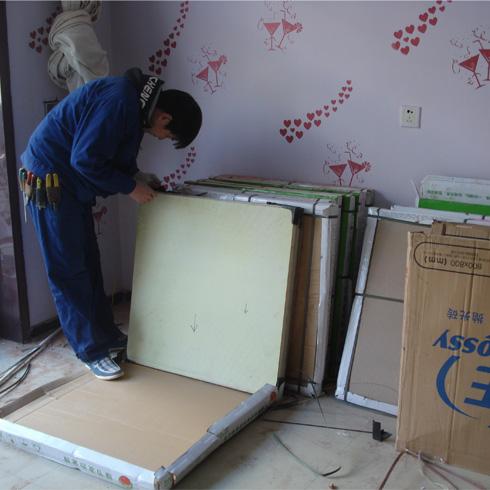 绿节发热瓷砖安装