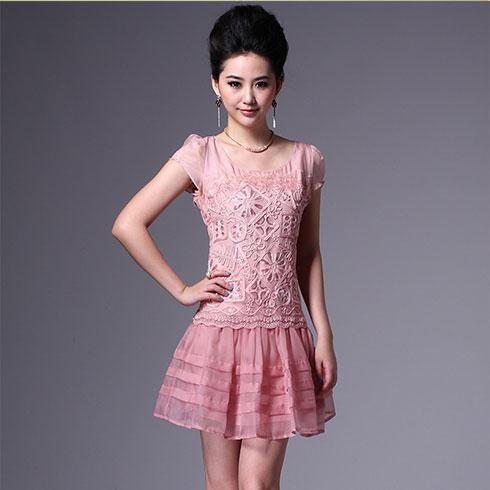 欧根纱甜美裙