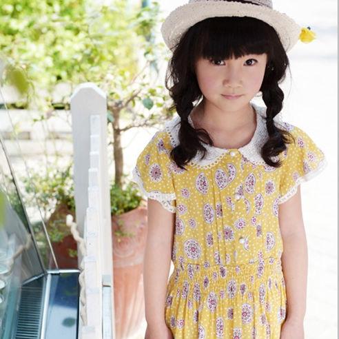 娃娃领雪纺裙