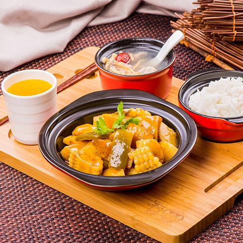阿宏砂锅饭快餐-粗粮丰收菜