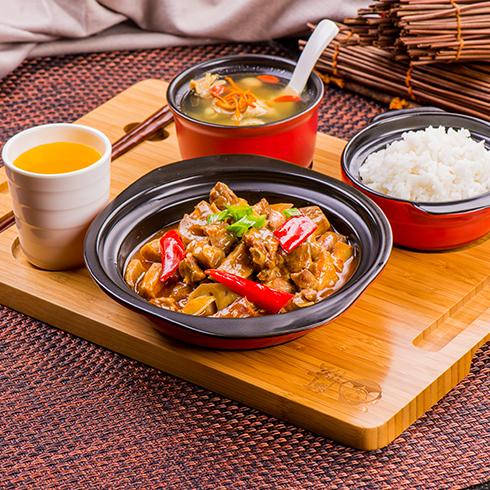 阿宏砂锅饭快餐-砂锅荷塘鸭