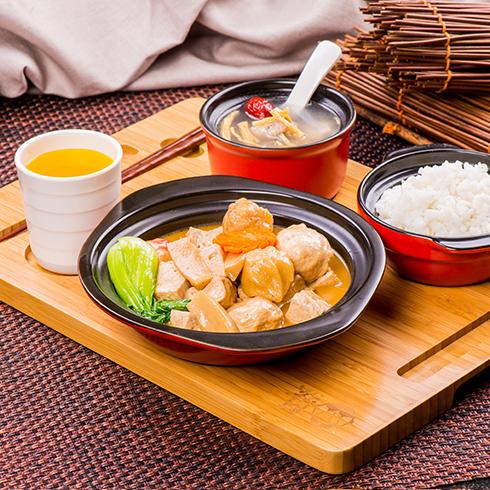 阿宏砂锅饭快餐-砂锅鱼丸老豆腐