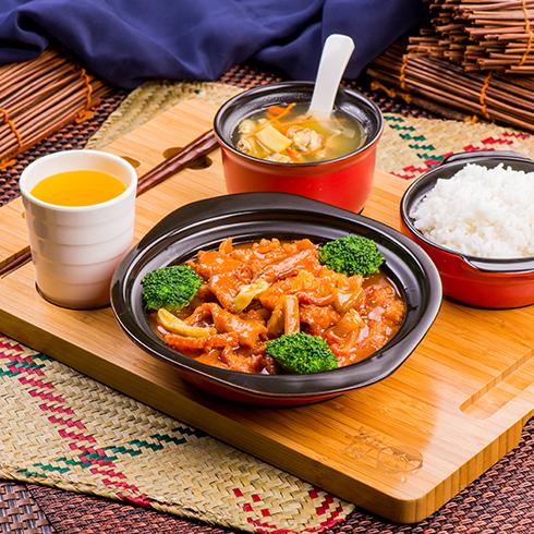 阿宏砂锅饭快餐-糖醋酥肉