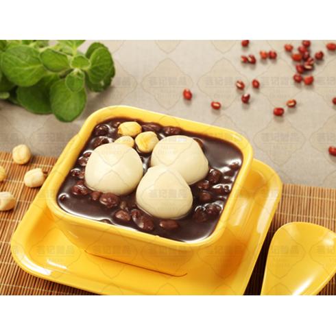 茗记甜品-汤圆配红豆沙