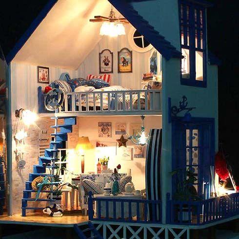 手工拼装建筑房子模型