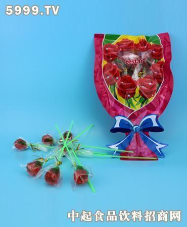 嘉隆玫瑰花棒棒糖