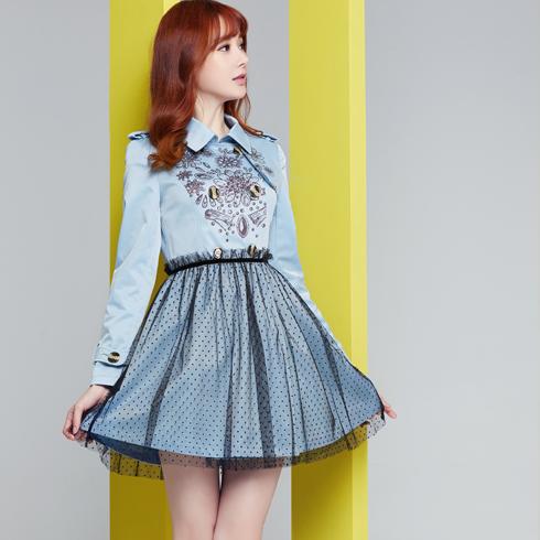 酷库女装产品-韩版长袖连衣裙