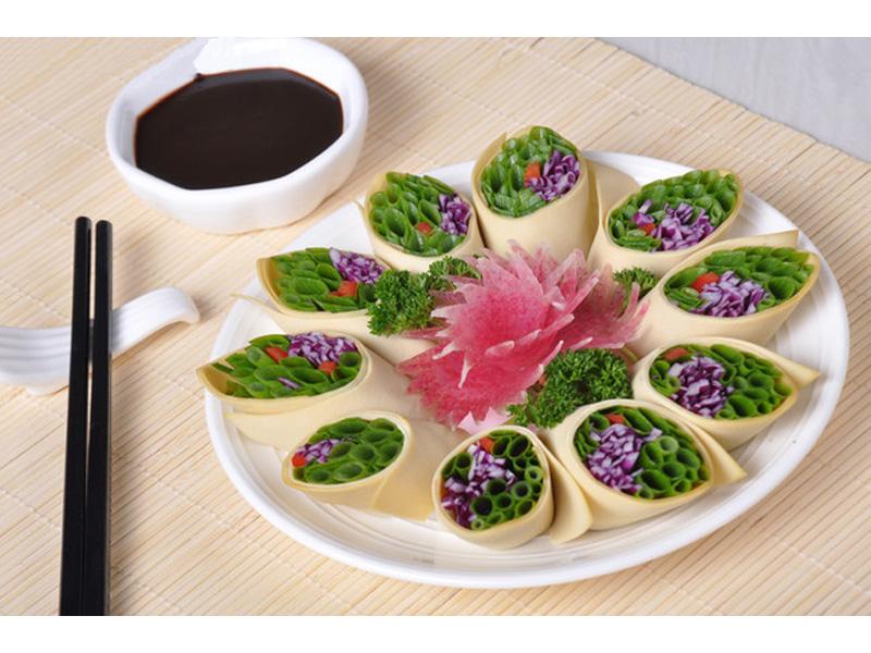 刘一咼火锅店菜品-五福酸菜卷