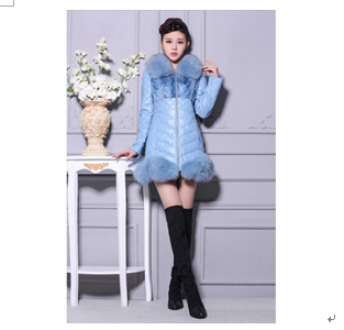 季美熙女装产品-天蓝色羽绒服