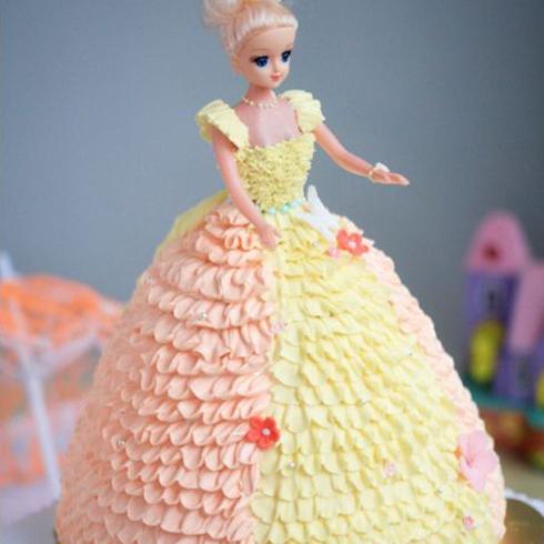 甜咪公主手工蛋糕产品-芭比娃娃类