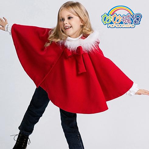 妙妙城堡童装产品-女童秋冬韩版斗篷外套