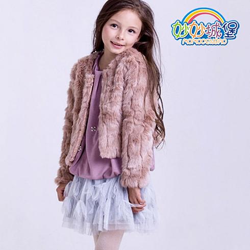 妙妙城堡童装产品-女童秋冬新款毛毛绒外套