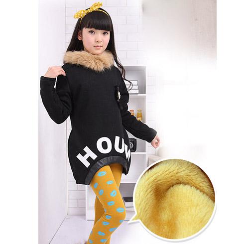 巴笛小宝品牌童装产品-女童加绒加厚童装上衣保暖衫