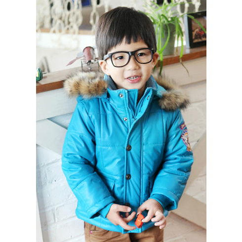巴笛小宝品牌童装产品-童装男童加绒加厚冬装儿童棉袄