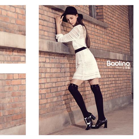 宝丽娜女鞋产品-超炫英伦高跟鞋粗跟