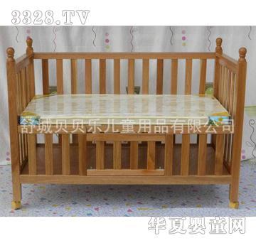 龙舒宝贝环保婴儿床原木