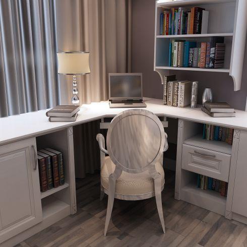 书房转角电脑桌写字台_吉哥衣柜-3158招商加盟网