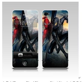 3D手机贴膜产品-3D手机蜘蛛侠贴膜