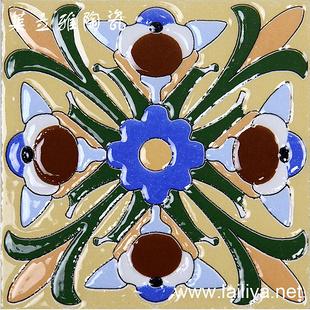 地中海欧式花片仿古小花砖楼梯砖