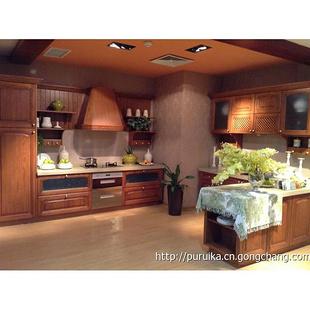 普瑞卡现代整体厨房橱柜 实木多层板橱柜厂家上门测量