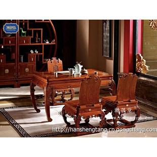 深圳瀚晟堂水意茶台椅|新中式茶台|红木茶椅子|大果紫檀家具