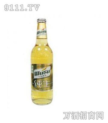 乌苏纯生啤酒