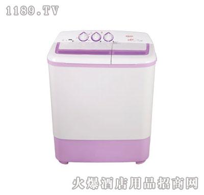 白+粉双桶洗衣机-新乐
