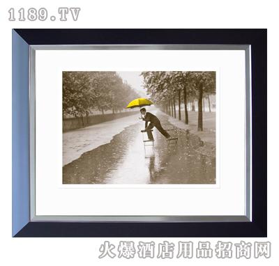装饰画黑白专色-下雨天