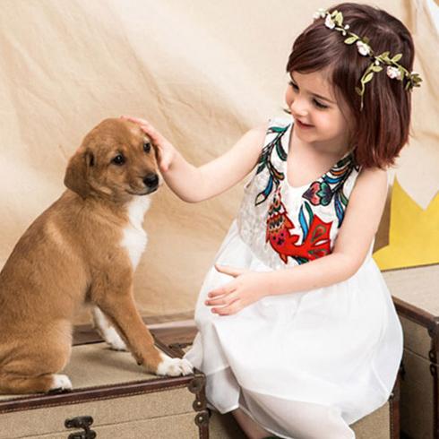 潮童天地童装产品-女童无袖连衣裙