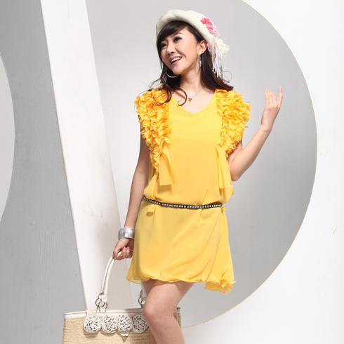 威姬儿斯女装产品-无袖雪纺连衣裙