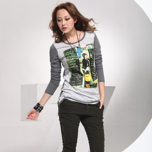 威姬儿斯女装产品-休闲长袖T恤