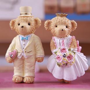 韩国创意礼品卡通可爱小熊工艺品泰迪熊吸磁贴树脂冰箱贴树脂摆件