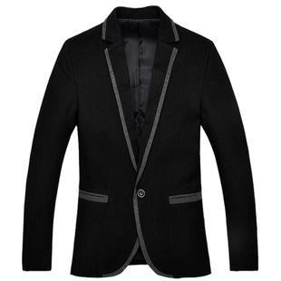 2014春批发新品品牌男装韩版外套男式品牌男式小西装制服潮男绅士图片