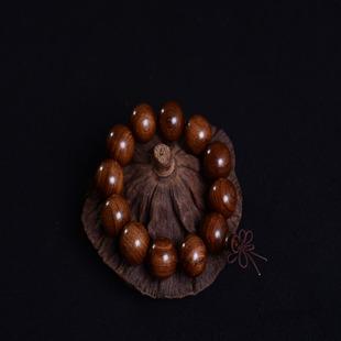 礼品男士手串檀木木质佛珠手链金丝檀同料顺纹佛珠
